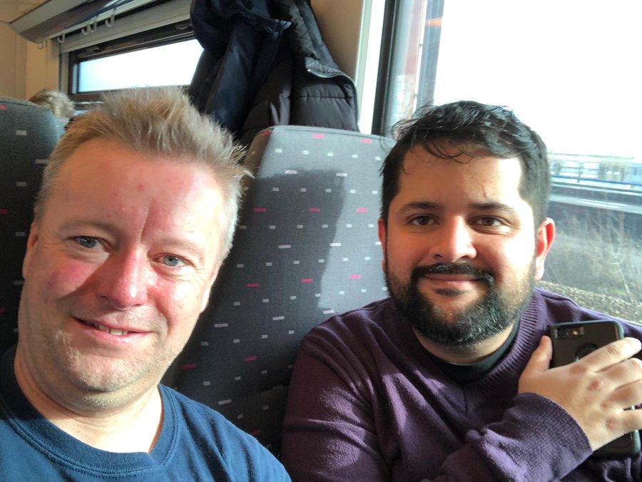 Ricardo e Martin Widlake dopo